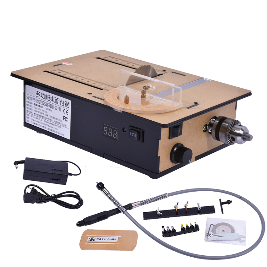 Mini Table Saws DIY 775 Small Saws High-profile Table Saws Cutting Machine With Speed Control/Positive Inversion/Voltage Display taie thermostat fy800 temperature control table fy800 201000