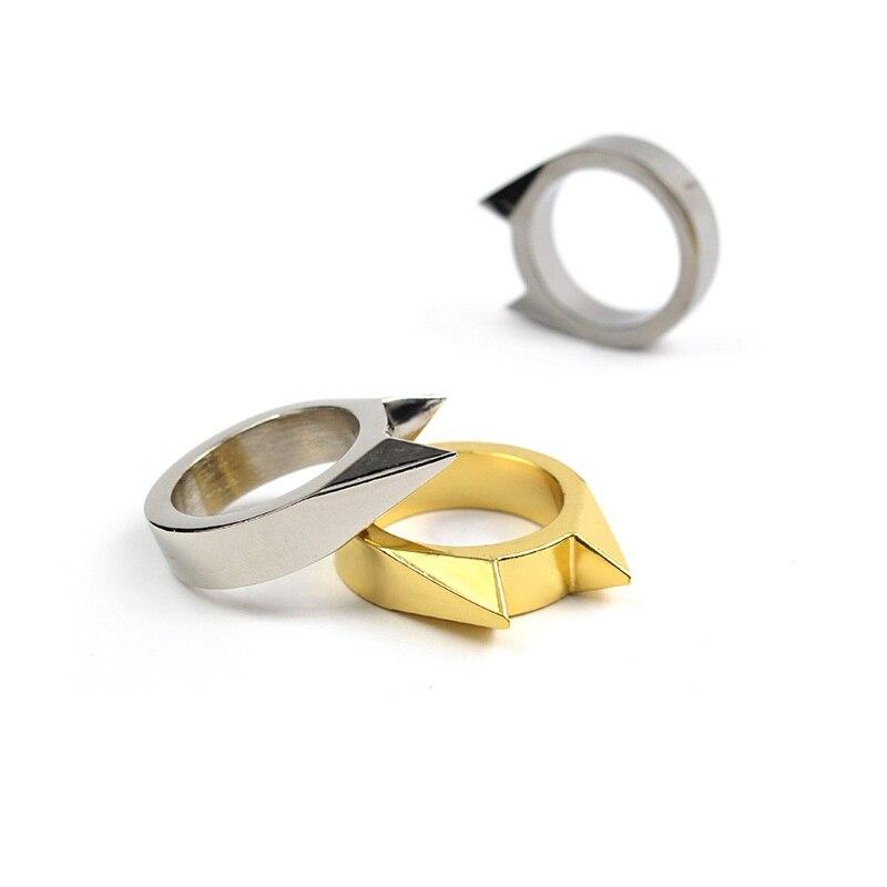 2 шт./лот EDC тактический Товары для самообороны инструмент Нержавеющаясталь Детская безопасность выживания палец кольцо обороны Интимные ...