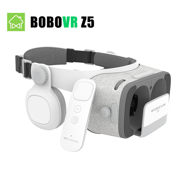 [In Stock] BOBOVR Z5 Virtual Reality 3D glasses Cardboard FOV 120 Degrees  VR Box Headset 3D with Daydream Remote controller