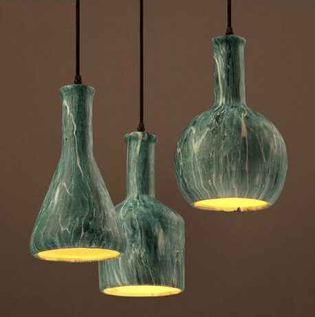 Modern Ceramic Bottles LED Pendant Lights Fixtures For Bar Dining Room  Hanging Lamp Indoor Lighting Suspension