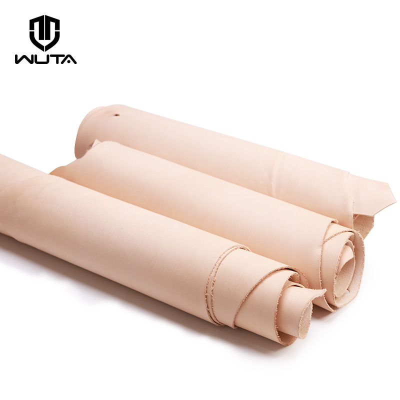 WUTA 8sq ft DIY Leathercraft Natural Belly Leather Fabric 4.5-6oz Italian Vegetable Tan Leather Genuine Cowhide Lining Leather