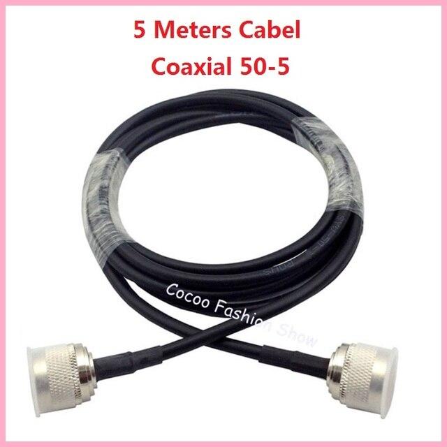 Высокое качество 5 М 50 ом 50-5 Коаксиальный Кабель для Подключения к Мобильный Сигнал Повторителя Splitter или антенна