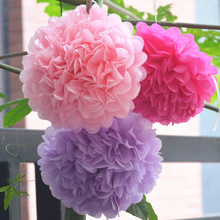 30pcs Mixed 3 Sizes(20cm,25cm,30cm)  Wedding Pom Poms Tissue Pape Wedding Party Festival Decoration Paper Flower Ball