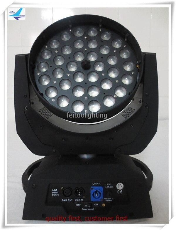 10 pieces/lot 36pcs 18w rgbwa uv led wash zoom moving head lights 6 in 1 Lyre wash disco dj rotating lighting