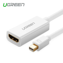 Ugreen High Quality Thunderbolt Mini DisplayPort Display Port DP to HDMI Adapter Cable For Apple Mac Macbook Pro Air 6ft 1 8m high quality thunderbolt mini displayport display port dp to hdmi adapter cable for apple mac macbook pro air