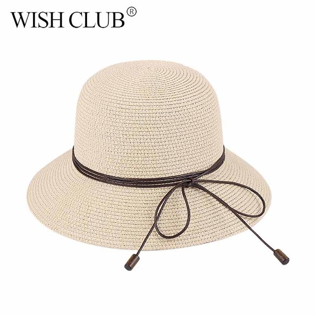 59402de8b Elegant Tether Summer Hats For Women Fashion Design Beach Sun ...