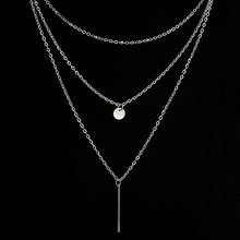 Multilayer Necklaces & Pendants For Women Gold Silver Color Long Chain Female Pendant Necklace Fashion Jewelry Collier Femme