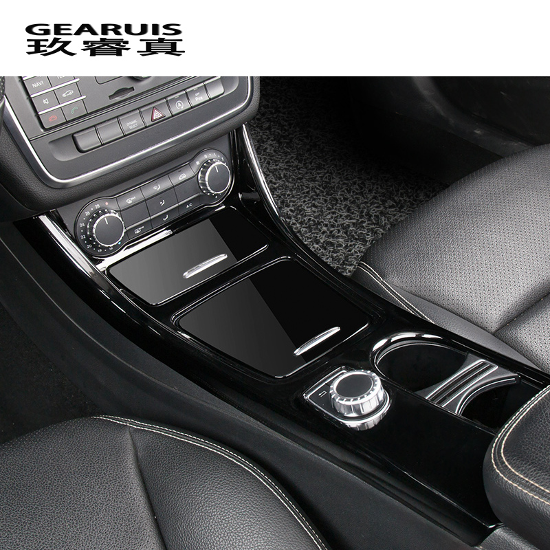 Car Gearshift Panel Water Cup Frame Cover Trim For Mercedes-Benz CLA GLA A class
