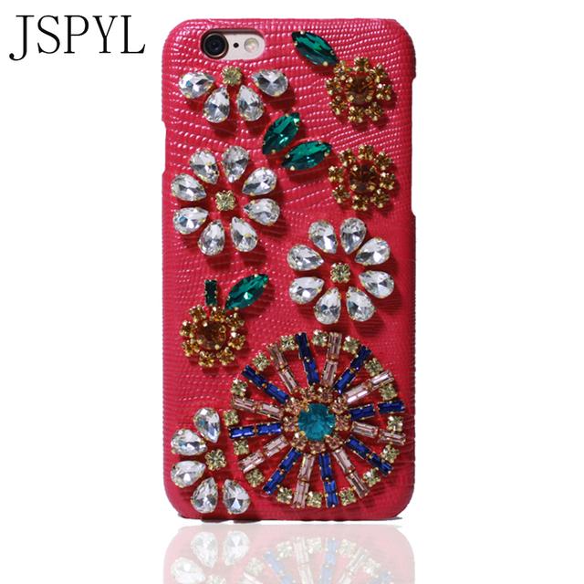 Luxury iPhone 7 7Plus Leather Case 3D Diamond Case Rhinestone Bling Cover Fundas Coque Case For iPhone 6 6s 6Plus 6sPlus Bag