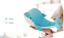 small lovely dolphin plush toy stuffed dolphin pillow birthday gift toy about 30cm blue