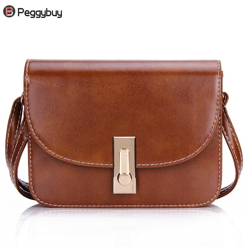 Women PU Leather Mini Vintage Messenger Bag Lock Shoulder Crossbody Bag Girls Clutches Evening Bag Solid Casual Flap Coin Purse цена 2017