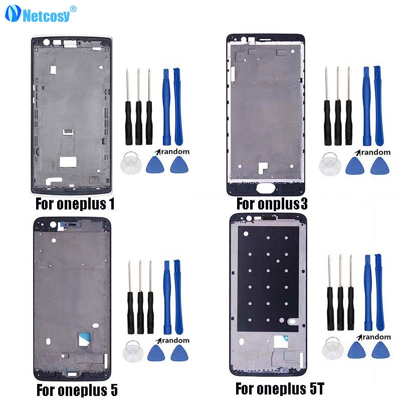 Mid Middle Frame Bezel Plate LCD Housing Cover For Oneplus 1+ A0001 A3000 A3003 A3010 A5000 A5010 Repair For One Plus 3 3T 5 5T