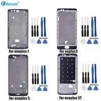 Cep telefonları ve Telekomünikasyon Ürünleri'ten Cep telefonu yuvası'de Orta orta çerçeve çerçeve plaka LCD gövde kapağı Oneplus 1 + A0001 A3000 A3003 A3010 A5000 A5010 onarım bir artı 3T 5 5T