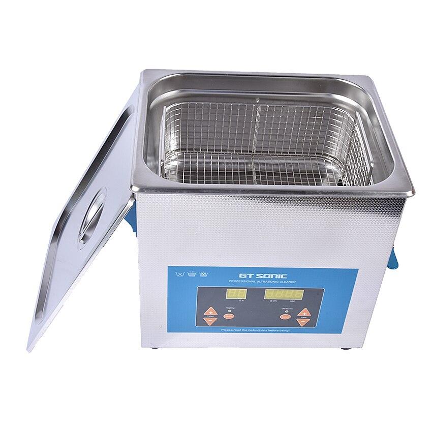 1 PZ VGT 1990QTD Digitale 110/220 V Professionale Ultrasonic Cleaner Gioielli Bagno Domestico 9L 200 W Cesto Gratuito - 4