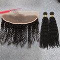7А Человеческих Волос Weave Кружева Закрытие Фронтальная С Малайзии Вьющиеся Волосы Пучки Сексуальная Формула Курчавые Волосы Малайзии Вьющиеся Волосы Девственницы