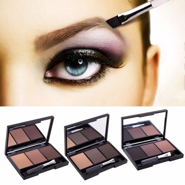 3 Color Eyebrow Powder Palette Cosmetic Brand Eye Brow Enhancer Professional Waterproof Makeup Eye Shadow With Brush Mirror Box 1