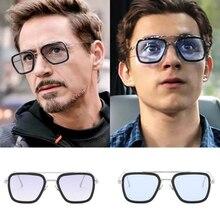 Iron Man 3 Sunglasses Avengers Tony stark Matsuda Sun glasses Men Retro Edith Sq