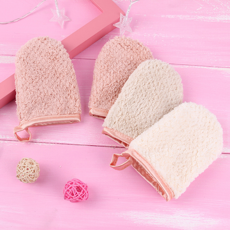 8.5x12cm 1pc/lot Reusable Microfiber Women Facial Cloth Magic Face Towel Makeup-Remover Cleansing Glove Random Color