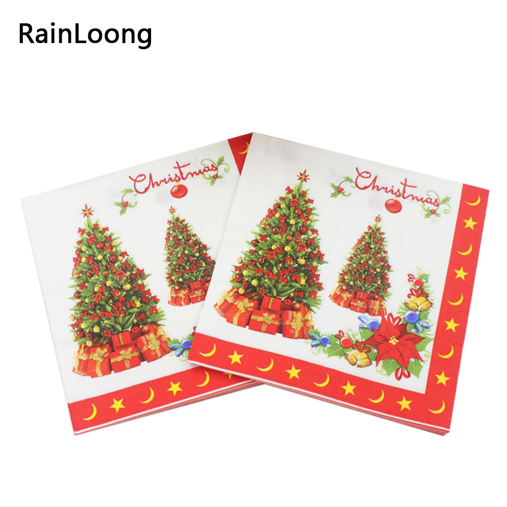 Fødevarer Juletræservietter Festive & Festvæv Papirservietter - Varer til ferie og fester