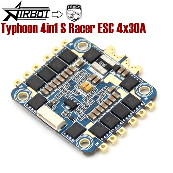 The Typhoon 4in1 S ESC 4x30A Race Verison runs BLHELI_S fimrware supports our ESCLINKER and BLHELIsuit for quadcopter drone airbot typhoon 4in1 s esc 4x30a and omnibus aio f7 v2 flight controller board for rc fpv racing cross drone quadcopter