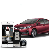 Car alarm system and GPS Central locking with Remote start alarm Keyless entry system Start stop alarma auto smart key system