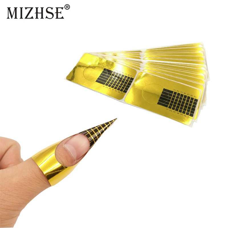 MIZHSE 10 Stuks Nail Art Professionele Acryl Nail Formulieren Voor Vinger Extension Franse Tips Guide Nail Vorm Styling Tools