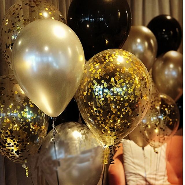 Graduation Decor Confetti Balloons Set Happy Birthday Party Boy Metal Ballons Neon Decoration 25th