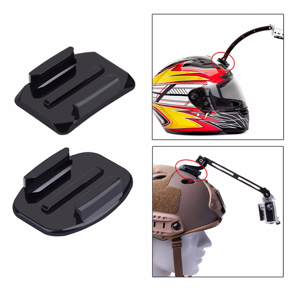 2 Curved Surface Mounts + 2 Flat Surface Mounts + 4 3M Stickers For Go Pro Accessories for GoPro HERO5 HERO4 Session HERO 5 4 3+