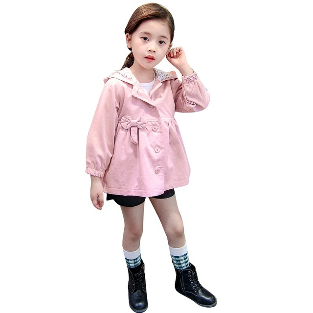 844ebac3bd6 2018 spring autumn girls jackets casual hooded outerwear girls fashion  Candy Color kids Sunscreen clothing girls Coat