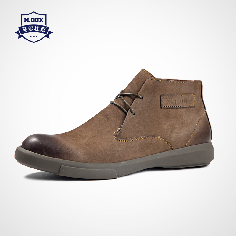 Sapatos brown Botas Maré Outono Baixas Cowboy preto Juventude Couro De Novas Homens Montaria Khaki Dos Inverno Lazer Britânico Real Trabalha HHZEqw4