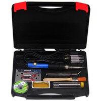 AideTek 60W 12 In 1 Adjustable Welder Soldering Iron Head Desolder Toolbox SPB2