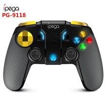 IPega PG 9118 bezprzewodowy Gamepad Bluetooth multimedialny kontroler gier Joystick konsola do gier Android ios PC telefon dla Xiaomi