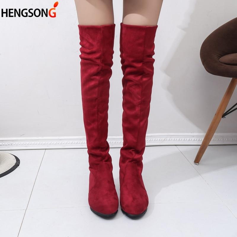 Womans High Boots Shoes Fashion Women Over The Knee Autumn Winter Bota Feminina Thigh
