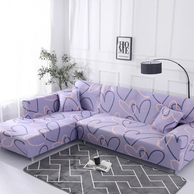 Geometric Pattern Sofa Cover for L Shaped Sectional Sofa | online brands
