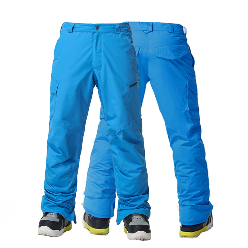 Gsou Snow Men's Skiing Pants Single Double Board Outdoor Windproof Heating Snow Trousers Size XS-XL цена