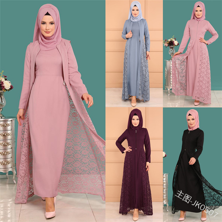 2019 New Elegent Fashion Style Muslim Women Beauty Plus Size Long Abaya S-5XL