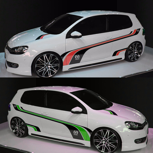 Car styling car door both side decals stickers car body decoration vinyl stickers for volkswagen vw