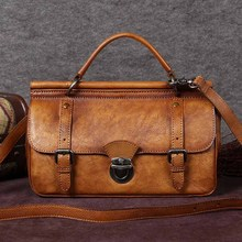 free shipping bag cowhide messenger bag messenger bag female handbag genuine leather handbag women's small bag vintage bag