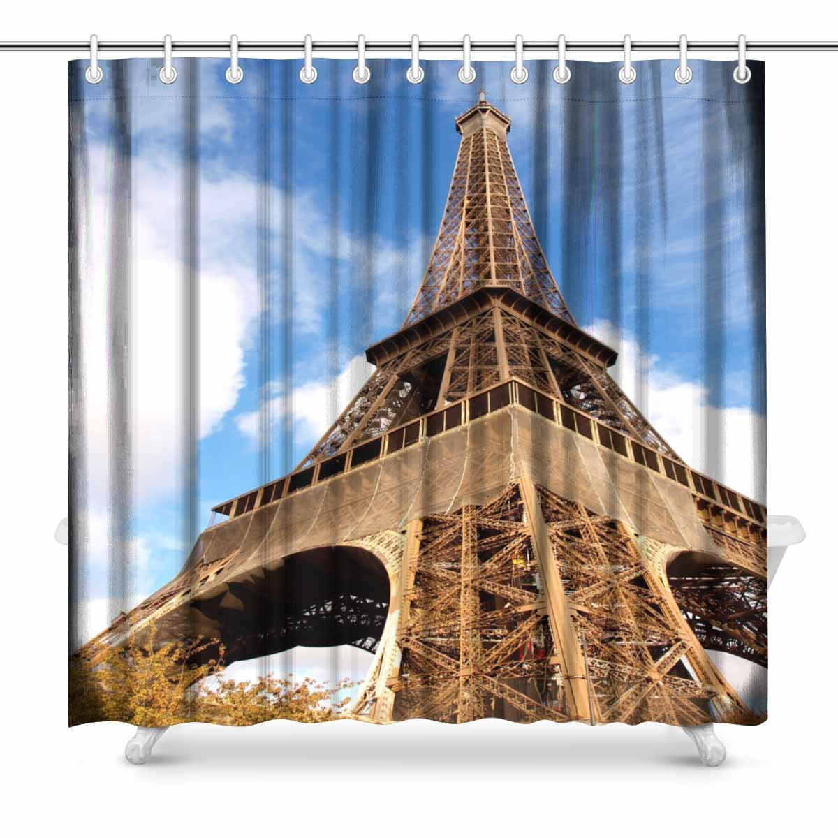Us 10 91 9 Off Aplysia Eiffel Tower In Paris Fabric Bathroom Shower Curtain Decor Set With Hooks 72 X 72 Inches In Shower Curtains From Home