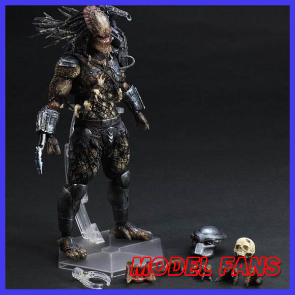 MODEL FANS Play Arts Kai Predator Figure Alien Hunter Primevil Figure PA 25cm PVC Action Figure Doll Toys Kids Gift