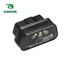 Kunfine super mini kw901 wifi elm327 v1.5 odb2 obdii scanner de diagnóstico do carro ferramenta elm 327 leitor de código funciona em ios android telefone