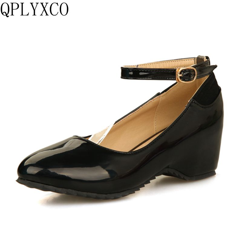 QPLYXCO Sale New fashion big & small Size 28-52 high heel wedge shoes platform fashion women dress sexy sweet heels pumps 258 nayiduyun women genuine leather wedge high heel pumps platform creepers round toe slip on casual shoes boots wedge sneakers
