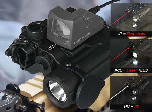TRIJICON DBAL-D2 Dual Beam Aiming Laser Red  W/IR LED Illuminator Class 1 Weapon Light For Hunting Paintball Accessory OS15-0088