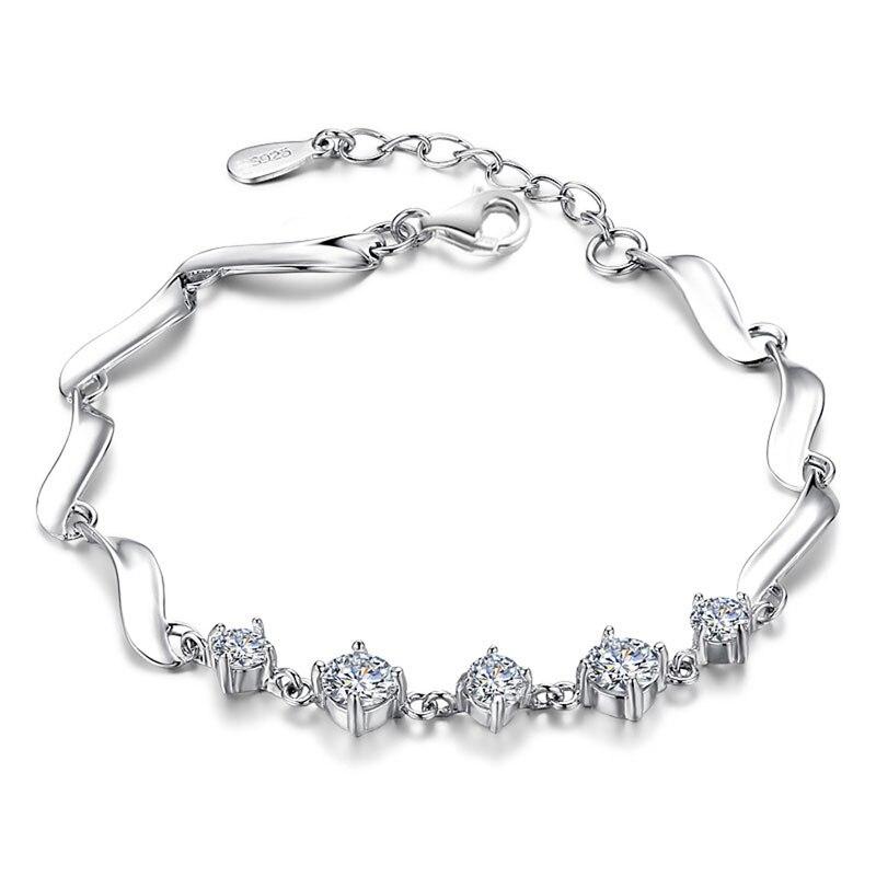 ¡100% joyería de plata esterlina 925 luz brillante pulseras y brazaletes de calidad superior! Envío libre Rj208