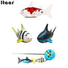 Coke Can Radio RC Super mini ELECTRIC Electronic Shark fish Boat Kids Toy Gift