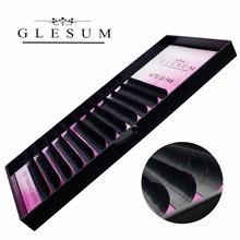 GLESUM Eyelash Extension Auto blooming 1s fans eyelash volume easy to make fan effect false and flowering faux lash