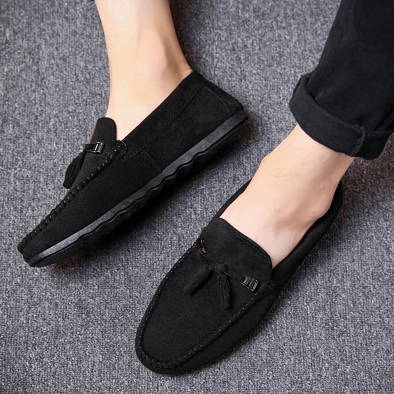 New Men's Breathable Walking Shose Oudtoor Comfortable Soft Shoes Flats Male Students Black Red Non-Slip Date Shoes Footwears 4