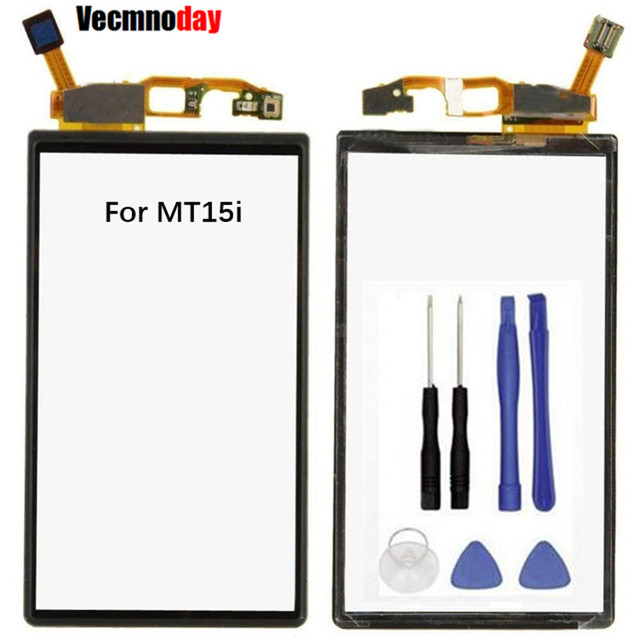 Vecmnoday Touch Screen Digitizer Front Glass Panel For Sony Ericsson Xperia Neo V MT15i MT11i MT15 Touchscreen Sensor Part
