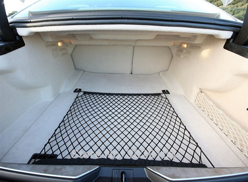 Car Elastic Nylon Car Rear Cargo Trunk Mesh Storage Net Car Styling for Land Rover discovery 2 3 4 freelander 1 2 defender a9 a8
