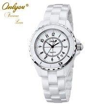 Onlyou Brand Luxury Ceramic Watch For Women Men Quality Quartz Watch Fashion Ladies Dress Watch 6901
